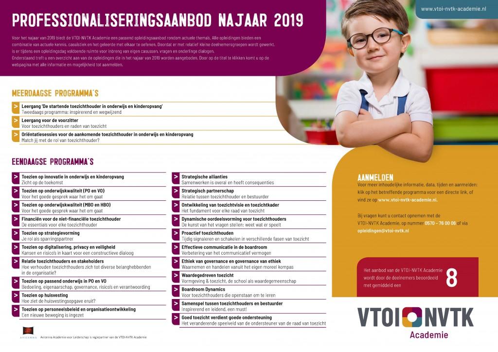 Flyer opleidingsaanbod VTOI-NVTK Academie najaar 2019 - kopie